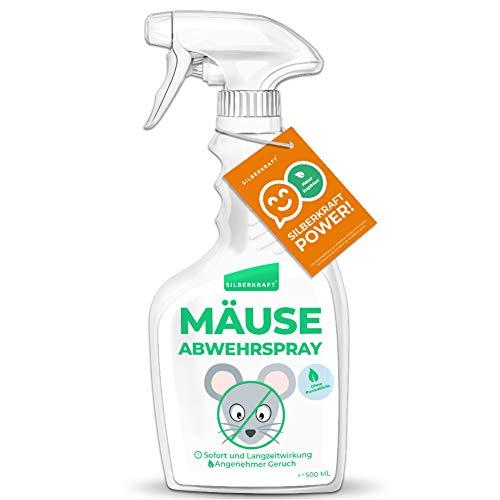 Silberkraft Mäuseabwehrspray 500 ml, Mäuseabwehr für Haus & Garten, Fernhaltemittel gegen Mäuse und Nagetiere, wirksame Alternative zu Fallen & Gift