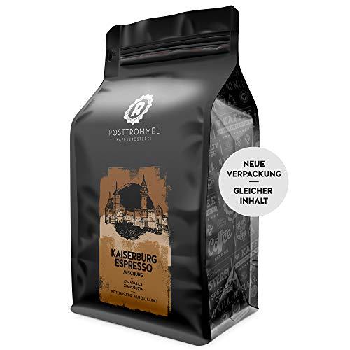 Espressobohnen KAISERBURG - Kakaonote - handgeröstet - ideal für Vollautomat & Siebträger