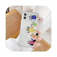 iPhone 12ミニ11 Pro最大XS XR SE 2020 7 8プラスXクリアシリコーンソフトバックカバーのためのかわいい3D漫画動物の恐竜の恐竜の携帯電話ケース -Hand-For iphone 12