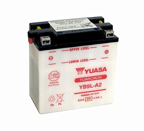 YUASA-Batterie KAWASAKI 253ccm EL 252 Baujahr 1995-2004 (YB9L-A2)