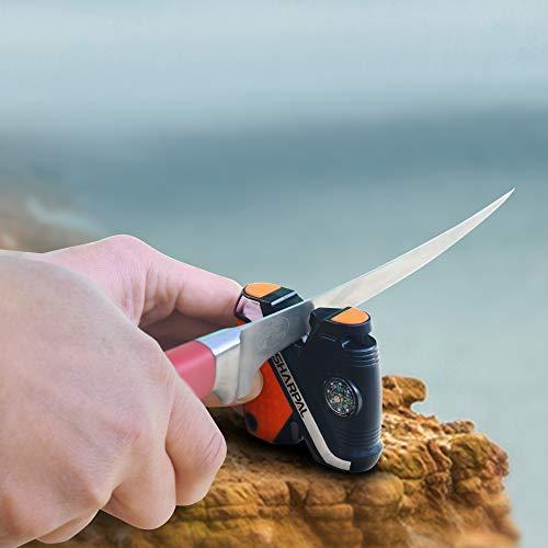 Sharpal 102N 5-in-1 Pocket Hunting Knife Sharpener丨Hook Fishing Camping Outdoor Sharpening Stones