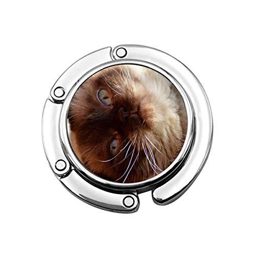 British Shorthair Cat Pet Codie Dog Companion Canine Animal Plegable Monedero Gancho Bolso Perchas Decoración Mesa
