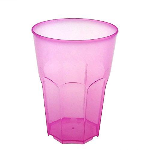 Verre à cocktail Doimoflair Tasse réutilisable PoppyMono 35 cl plastique (PP) Rosa Set de 25 pièces