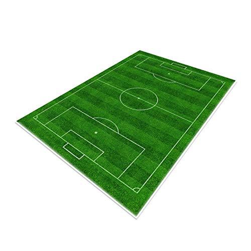 Tappeto da campo da calcio , Funs Home Decor Tappetino da gioco per ragazzi Ragazze Sport Theme Room Green 80×120cm