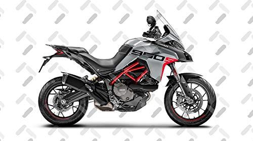 Motorrad Fairing Stickers KIT Ducati MULTISTRADA 950 S Grand Tour Style FS-MULTI-950S (Glossy Gray)