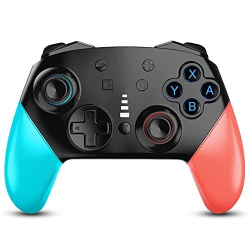 Zexrow Controller für Switch, Wireless Bluetooth Pro Gamepad Joystick mit einstellbarem Turbo Dual Vibration 6-Achsen-Kreisel für Switch / Switch Lite
