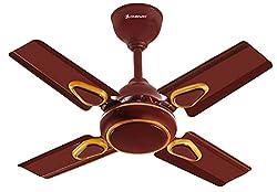 LONGWAY® STARLITE DECO Anti Dust 600 MM Super Speed (100% Copper) Ceiling Fan - 850 RPM - 2 Years Warranty (Brown) Pack of 1