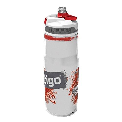 Contigo Devon Insulated, Bottiglia per Idratazione Adulto, Rosso, 22 oz (650 ml)