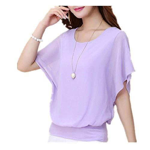 Verano de las Mujeres Camisa de Manga Corta Camisa Elegante Delgada Oficina de las Mujeres Blusa Streetwear Señoras Tops - - Medium