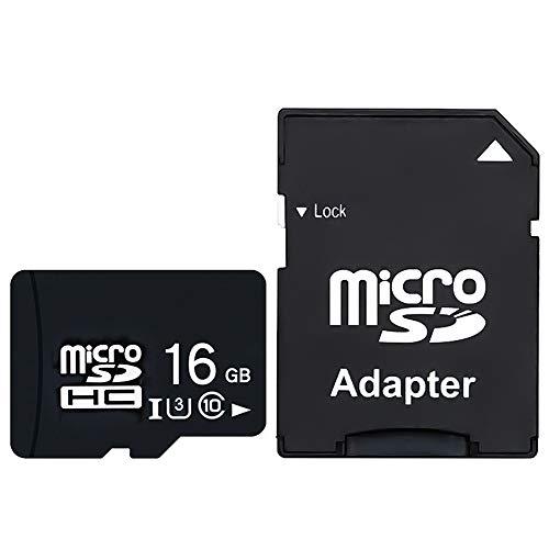 Micro SD カード CNEVISION MicroSD 高速転送 マイクロ sd カード Micro SD 16gb SDXC SDHC ドライブレコーダー向け UHS-1 U3 V30 超高速転送 MLCフラッシュ搭載 3年保証 sdカード micro sd アダプター 変換アダプター (高耐久, 16GB)