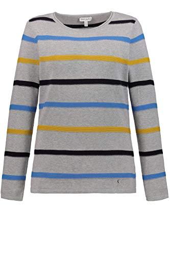 GINA LAURA Damen Pullover, Strukturstreifen, Rollkante, leicht tailliert senfgelb XL 725030 62-XL