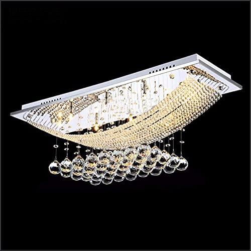 Luces de techo de cristal accesorios de montaje enjuague los candelabros LUZURANTE CRISTAL Colgante Luces de la sala de estar Iluminación Lámparas colgantes Bombilla incluida Ajuste for cocina, comedo