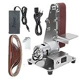 Lijadora de Banda, Mini lijadora de banda, pulidora multifuncional, pulidora, aleación de aluminio, cortador de bricolaje, afilador de bordes (motor 895)
