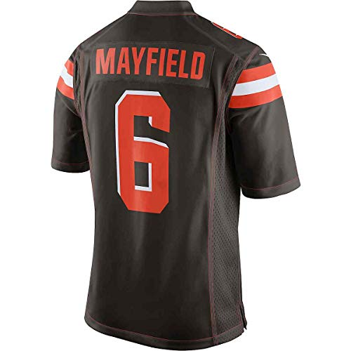 Nike Men's Cleveland Browns Brown Baker Mayfield Game Jersey (Lrg)