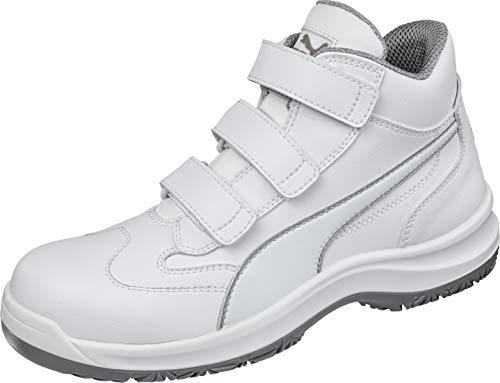 Puma Safety Sicherheitsschuhe White'N Service Absolute Mid S2 63.018.2, Hochschuhe, weiß, Größe 46, 47-630182-46