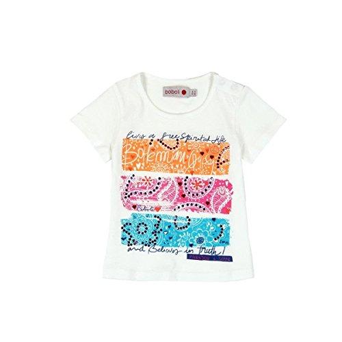 boboli 235022 Camiseta, Blanco (Blanco Químico), One Size (Tamaño del Fabricante:12M) para Bebés