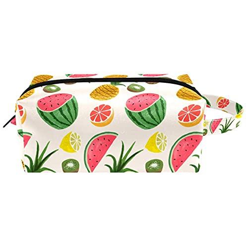 Bolsa de cosméticos para mujer, diseño de lirios rojos de la selva, bolsa de aseo portátil, bolsa de aseo de viaje, bolsa de maquillaje impermeable para niños