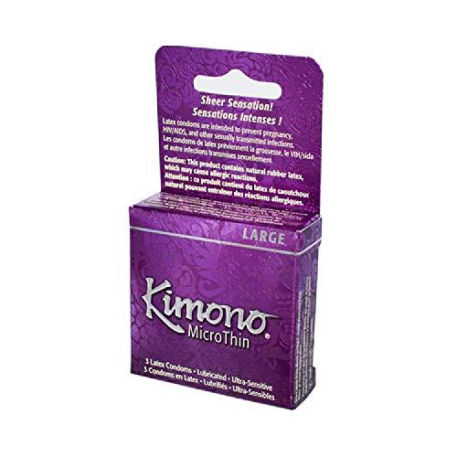 Mayer Laboratories Kimono Condom Microthin Large Condoms, 3 Count