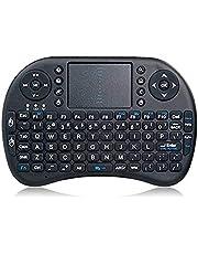 لوحة مفاتيح مع فأرة باللمس، بلوتوث، إضائة خلفية للمفاتيح، اسود