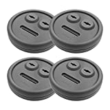 Entsong 4-Pack Thermometer and Probe Grommet for BBQ Grill, Compatible with Weber 85037 Smokey Mountain Cookers, and Other Grills DIY Sensor Port