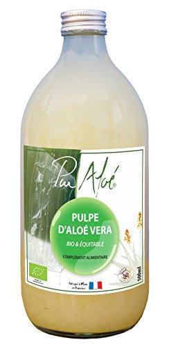 PUR'ALOE Pulpe d'Aloe Vera à Boire - BIO - 500 ml