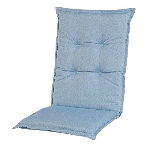 Adlatus-Kühnemuth - Gartenstuhlauflage - Polsterauflage - Sitzauflage - Classic Dessin 104, Farbe: taubenblau (Hochlehner Auflage 120 x 50 cm)
