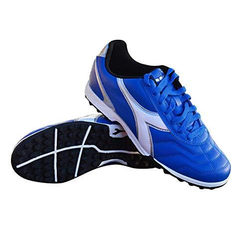 Diadora Men's Capitano TF Turf Soccer Shoes (7.5 D(M) US, Royal/White / Silver)