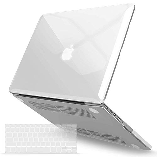IBENZER MacBook Pro 13 Inch Case 2015 2014 2013 end 2012 A1502 A1425, Hard Shell Case with Keyboard Cover for Old Version Apple Mac Pro Retina 13, Crystal Clear, R13CYCL+1