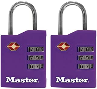 Master Lock 4684T Luggage Locks Assorted Colors 2 Count