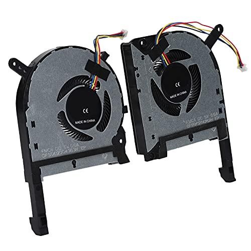 214 2 Piezas de aleación de Aluminio de 4 Pines CPU GPU Ventiladores de refrigeración de Repuesto para ASUS TUF FX505 FX505ge FX505gm FX505dt FX705