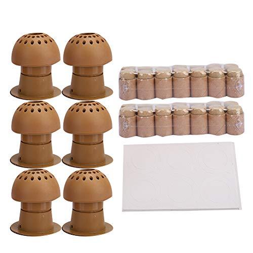 Moxibustion Box, 6pcs Moxa Box Reutilizable Sin Humo Inicio Abdomen Back and Chest Moxibustion Tool Adecuado Para Uso En Salones De Belleza, Para Eliminar La Fatiga, Etc