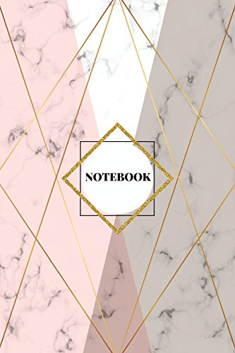 Notebook: Marble + Gold Journal | 120-Page Blank Page Notebook | 6 X 9 Marble & Gold Perfect Bound Softcover (Marble & Gold Journals)