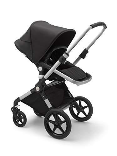 Bugaboo Lynx - The Lightest Full-Size Baby Stroller - All-Terrain Stroller with an Effortless Push and One-Handed Steering - Compatible with Bugaboo Turtle by Nuna Car Seat - Alu/Black