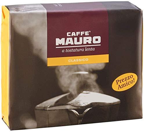 Caffè Mauro | Classico | Macinato per Moka | 4 confezioni Bipack (250gr x 2) | Totale 2kg
