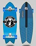 Sakari Surfskate with SGI Sakari Surf Skate Trucks Downhill Juice Blue 32 Fish