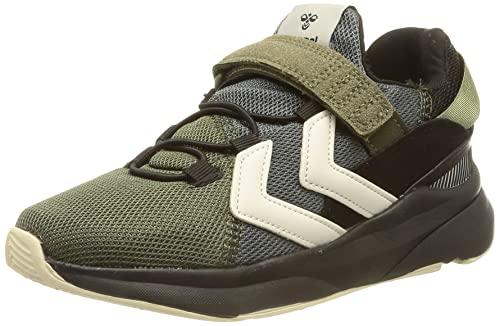 hummel Reach LX300 Recycled JR Sneaker, Black/Covert Green, 33 EU