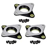 3Dman Nema17 Stepper Motor Steel and Rubber Vibration Dampers with M3 Screw for Creality CR 10, 10S, Ender 3 and other 3D Printers, CNC (Pack of 3)