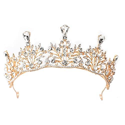 TUOCO Diadema Corona Tiara, Tiara de Novia para Muje, Cristal de Chispa...