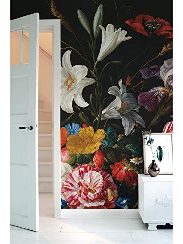 KEK Amsterdam Golden Age Flowers V, 8-delig fotobehang - multicolor (280cm x 389,6cm)
