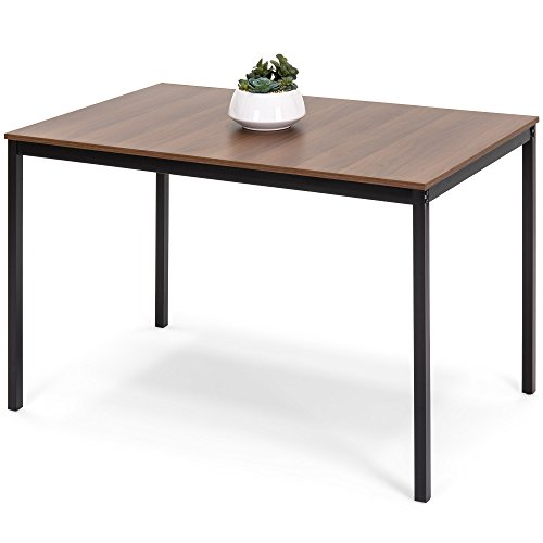 Best Choice Products 48in Multipurpose Modern Rectangular Dining Table Office Desk w/Wood Finish Tabletop, Steel Frame