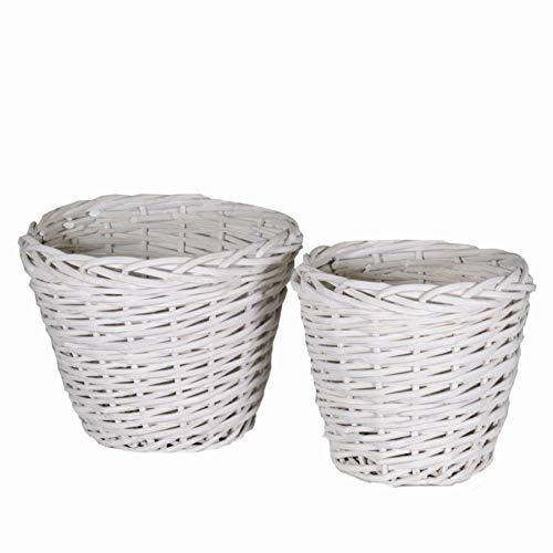 Cestas Almacenaje Baño Mimbre Blanco cestas almacenaje baño  Marca Vacchetti Giuseppe
