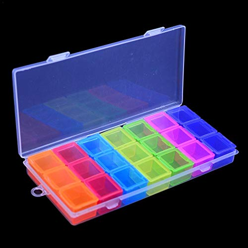 10 Grid Boite /étui Coffret Plastique Rangement Bijoux Manucure Maquillage /à Usages Multiples R/écipien