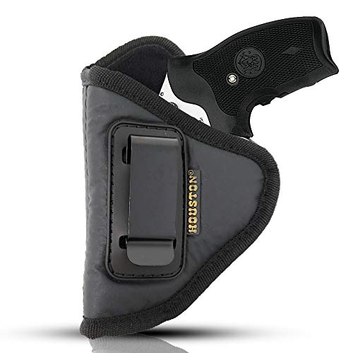 IWB Revolver Holster by Houston - ECO Leather Concealed Carry Soft Material | Suede Interior for Protection | Fits Any 38 J Frames, S&W, Charter Arms, Rossi 38, Taurus,BG,LCR (Left) (CHP-60-LH)