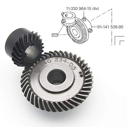 KUNPENG - #91-141536-90 + 11-330964-15 Conjunto de engranaje cónico de 1 unidad Ajuste para la máquina de coser PFAFF 145 543 544 545 1245 1246
