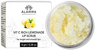 ALANNA Lemonade Lip Scrub Lightening & Brightening Dark Lips for Women & Men, Dark Lips to Lighten, Dry & Chapped Lip Car...