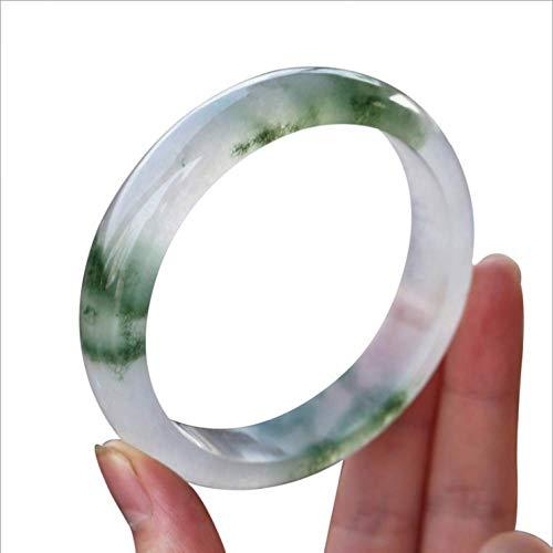 shixiaodan Pulsera,Natural Jade Hielo Tipo flotando Flor Esmeralda Color Nuevo Cuarzo Piedra Mujer Pulsera Pulsera Pulsera