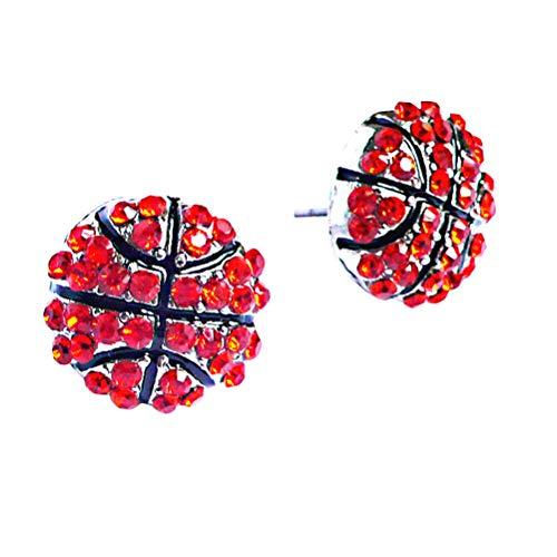 BESTOYARD Basketball Ohrringe Sport Thema Kristall Ohrstecker Schmuck für Frauen Mädchen