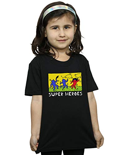 DC Comics Niñas Batman Pop Art Camiseta Negro 9-11 Years