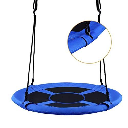 Balançoires YXX Nid D'oiseau Jardin Bleu 40 Pouces d'arbre à Soucoupe d'une capacité de 330 LB, Grands Enfants/Adultes Rond Chaises de hamac pour Jardin extérieur et Parc arboré
