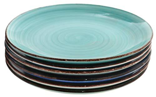 Steingut Serie Baita - Teller/Schalen/Becher zur Auswahl Größe 6 x Teller flach